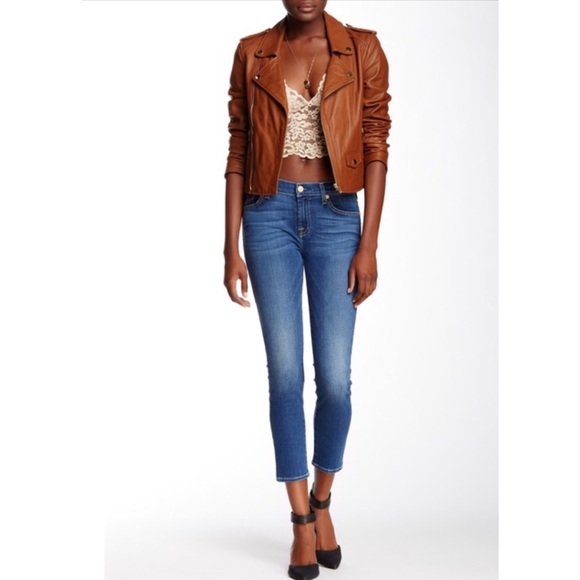 7 For All Mankind Denim - 7 For all mankind Cropped Gwenevere Jeans